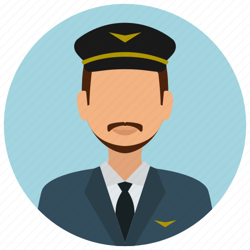 avatar, hat, man, mustache, pilot, services, tie icon