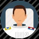 astronaut, man, services, suit, uniform, avatar, space