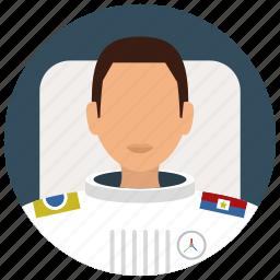 astronaut, avatar, man, services, space, suit, uniform icon