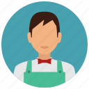 avatar, cashier, grochery, man, services, store icon