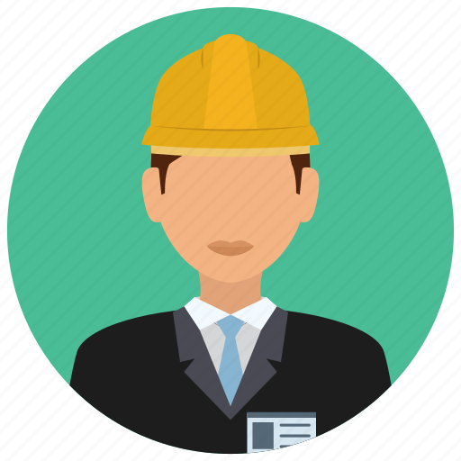 avatar, business, construction, helmet, man, services, tie icon