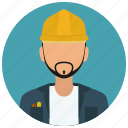 avatar, construction, helmet, man, services, shirt icon