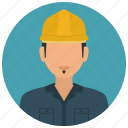 avatar, construction, helmet, man, services, worker icon