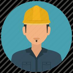 avatar, construction, helmet, man, services, worker icon