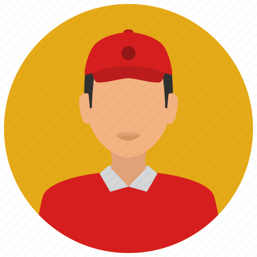 avatar, cap, cashier, fast, food, man, services icon