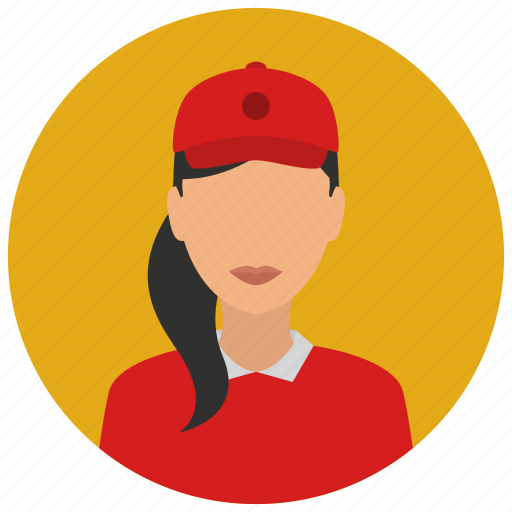 avatar, cap, cashier, fast, food, services, woman icon