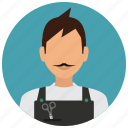 avatar, hairdresser, man, scissors, services icon