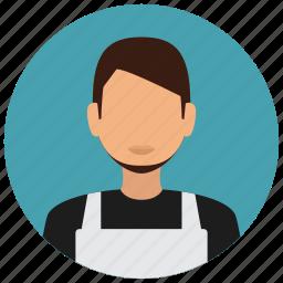 avatar, housekeeping, male, man, services, uniform icon