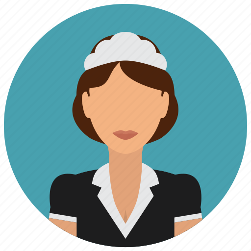 avatar, female, housekeeping, made, services, uniform, woman icon
