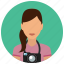 avatar, camera, photo, photographer, photography, services, woman icon