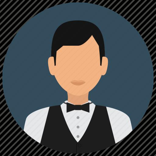 avatar, bowtie, man, service, services, shirt, waiter icon