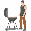 bbq grill, camp food, grilled food, outdoor cooking, picnic food icon
