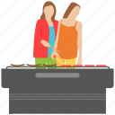 bbq food, friends outing, girls cooking, outdoor cooking, picnic food icon