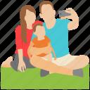 family photo, outdoor selfie, photoshoot, picnic pic, selfie icon