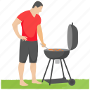 bbq grill, camp food, grilled food, outdoor cooking, picnic icon