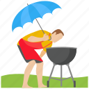 bbq grill, food, grilled food, outdoor cooking, picnic icon