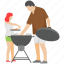 bbq cooking, cooking, grilled food, outdoor food, picnic food icon