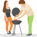 bbq serving, family picnic, outdoor cooking, outdoor food, picnic food icon