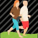 couple walking, exercise, jogging, morning walk, walk icon