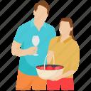 honeymoon, married couple, outdoor fun, outdoor picnic, picnic icon