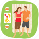 adventure, camping, couple picnic, honeymoon, outdoor picnic icon