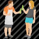 cheers, couple fun, drinking wine, honeymoon, picnic icon