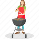 bbq, camp cooking, chef cooking, grilled food, outdoor cooking icon