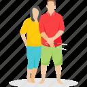 couple, couple fun, married couple, picnic couple, tourist couple icon