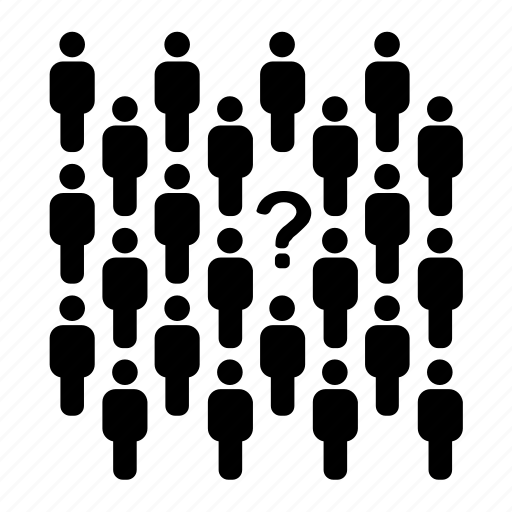 anonym, crowd, hr, people, question mark, secret, unknown icon