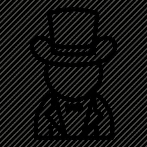 conjurer, illusionist, magician, man, user, wizard icon