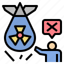 forbidden, radioactive, nuclear, campaign, protest, resist