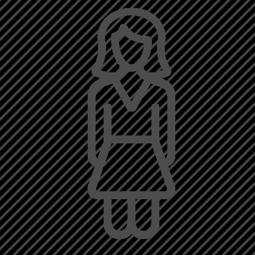 dress, female, girl, people, skirt, wife, woman icon