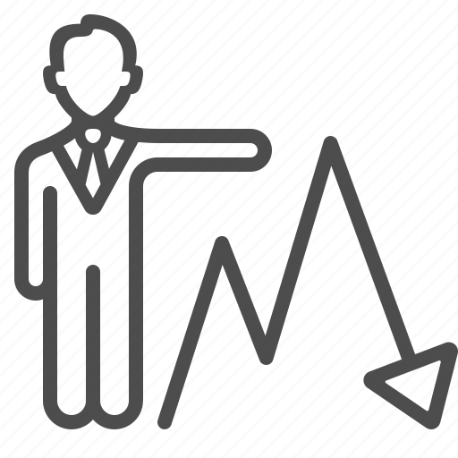 arrow, broker, business report, businessman, investment, man, people icon