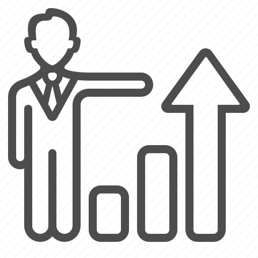 broker, business, businessman, graph, investment, man, people icon