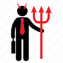 demon, evil, human icon, male icon