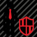 guard, human icon, male, private, safe, secure, stickman icon