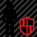 guard, human icon, male, male icon, private, safe, stickman icon