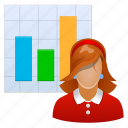 demography, analytics, chart, diagram, girl, graph, lady, report, statistics, woman, account, adult, analysis, avatar, charts, client, contact, customer, female, flow, graphs, growth, human, increase, infographic, learn, learning, line, manager, member, monitoring, optimization, people, person, photo, powerpoint, presentation, profile, progress, project, sales, screen, statistic, statistical, stats, stock, user, users, women