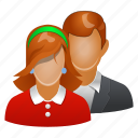 people, family, female, male, pair, users, account, accountant, admin, adult, avatar, client, communication, company, conference, connection, contact, customer, customers, employee, girl, group, human, lady, love, man, management, manager, meeting, member, men, person, photo, profile, social, social network, staff, student, team, user, woman, women icon