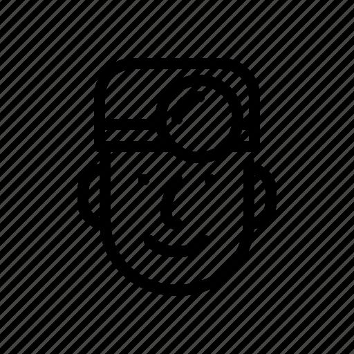 boy, doctor, face, man, person icon