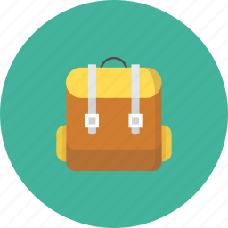 backpack, backpackers, bag, students, travel icon