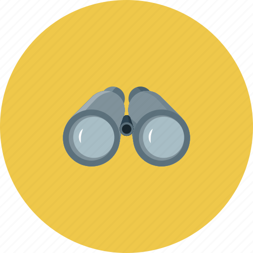 binoculars, find, search, travel icon