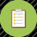 checkmark, documents, event, list icon