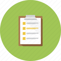 checkmark, documents, event, list icon