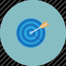 aim, blue, goal, target icon