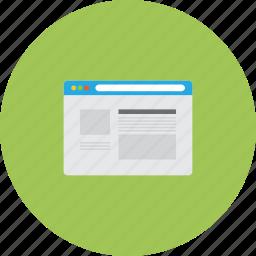 browser, interface, internet, navigator, web, website icon