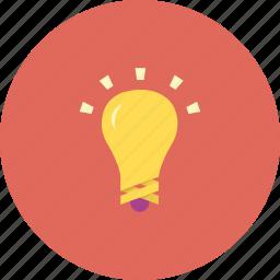 alert, bulb, ideas, light, yellow icon