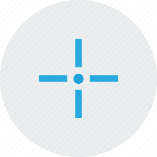 blue, centre, focus, goal, target icon