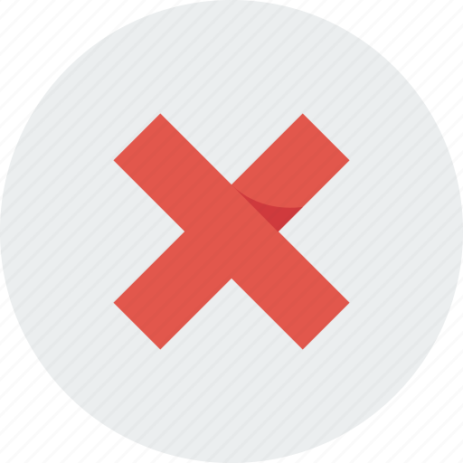 alert, attention, cancel, close, red icon