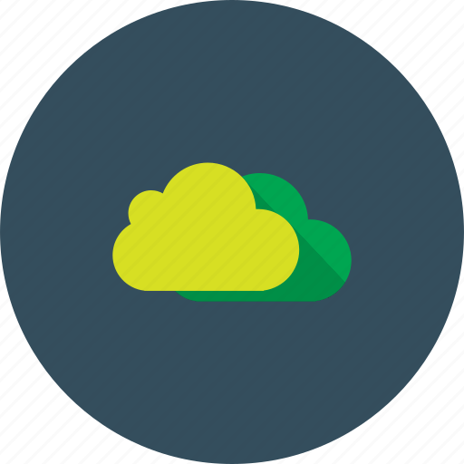cloud, clouds, cloudy, green, sky icon